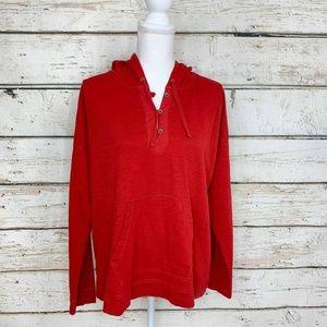 Sz XL Red Lauren Ralph Lauren 100% Cotton Hoodie